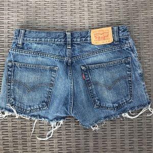 Levi's distressed shorts